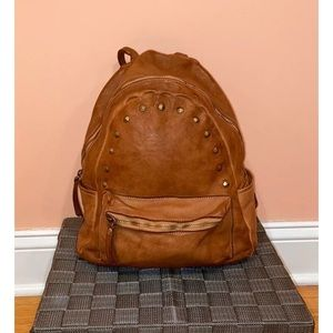 Costanza rota vintage studded leather backpack
